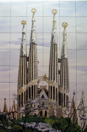 Catedrala Sagrada Familia din Barcelona - Faianta pictata pentru living