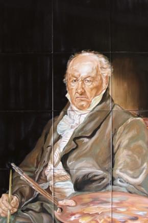 Goya - Faianta pictata pentru living