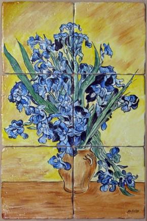 Irisi - Faianta pictata pentru living