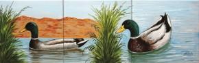 Rate pe lac - Faianta pictata pentru living