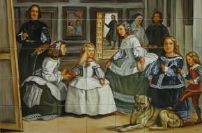 Las Meninas - Velazquez - Faianta pictata pentru living
