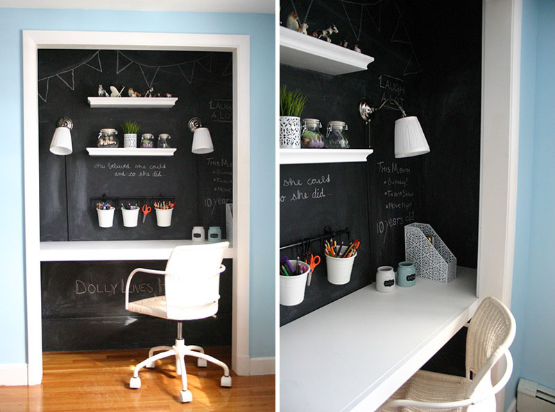 Birouri si spatii de lucru amenajate in dulapuri perfecte for Small apartment office