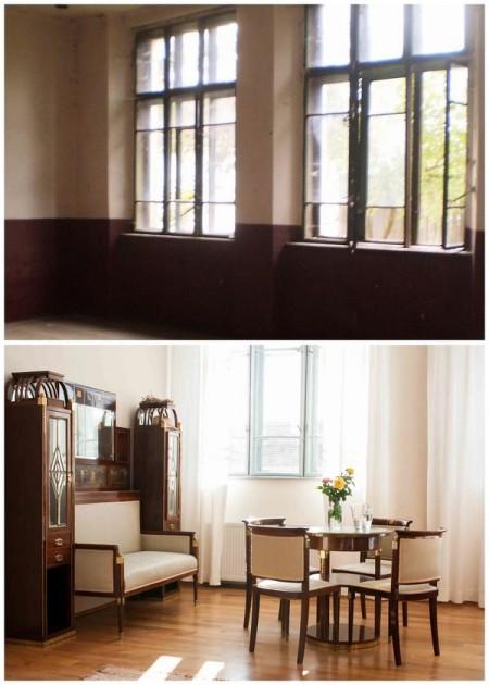 Veche sala de clasa amenajata ca dormitor de oaspeti - Casele de Oaspeti Cincsor - o restaurare excelenta pentru turismul autentic