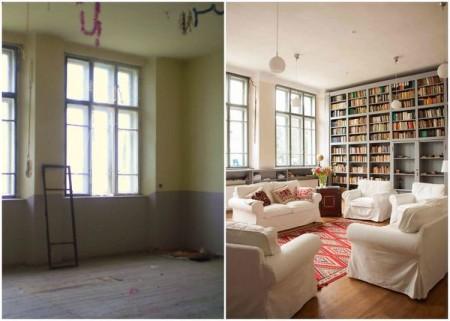 Sala de clasa transformata in biblioteca - Casele de Oaspeti Cincsor - o restaurare excelenta pentru turismul autentic