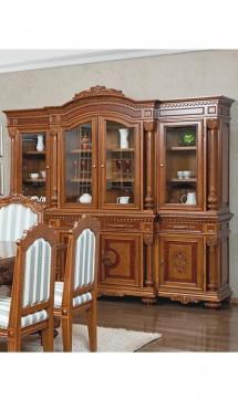 Bufet-vitrina 4 usi - Mobila sufragerie lemn masiv Alyona