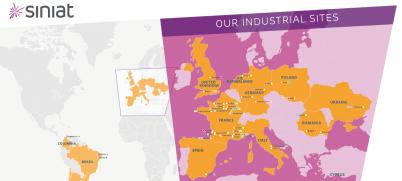 Harta fabricii Siniat - Siniat