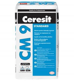 Adeziv standard pentru placi ceramice la interior Ceresit CM 9 - Adezivi pentru placari interioare si exterioare