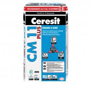 Adeziv pentru placi ceramice Ceresit CM 11 PLUS - Adezivi pentru placari interioare si exterioare