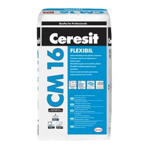 Adeziv flexibil pentru placari ceramic si din piatra naturala Ceresit CM 16 - Adezivi pentru placari interioare si exterioare