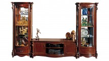 Compex cu vitrine si comoda TV-Hi-Fi - Mobilier Colectia Castello