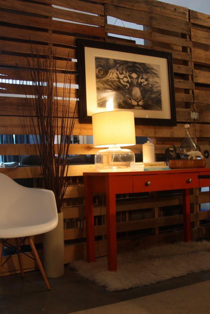 Paravan de compartimentare din paleti de lemn - Compartimentare din paleti de lemn