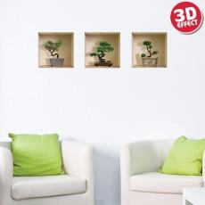Sticker cu efect 3D - Bonsai - Stickere cu efect 3D