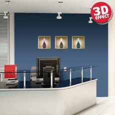 Sticker cu efect 3D - Trei vaze - Stickere cu efect 3D