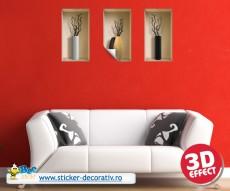 Sticker cu efect 3D - Vaze Lugano - Stickere cu efect 3D