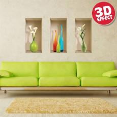 Sticker cu efect 3D - Vaze Milano - Stickere cu efect 3D
