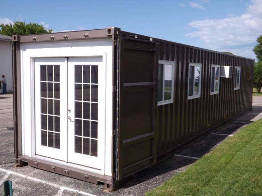 Locuințe prefabricate din containere de transport mărfuri pot fi cumparate online - Locuințe prefabricate din containere