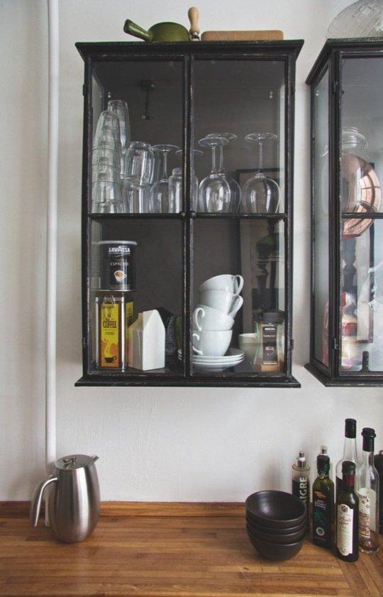 Idei pentru niste dulapuri de bucatarie neconventionale for Küchenvitrine