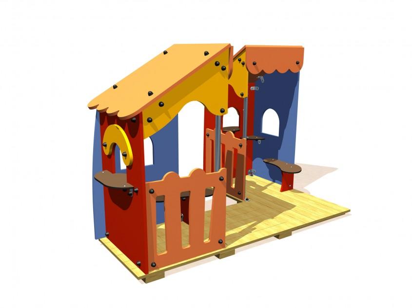 Casute pentru locuri de joaca - NOU! Echipamente pentru locuri de joaca, de la Indfloor Group