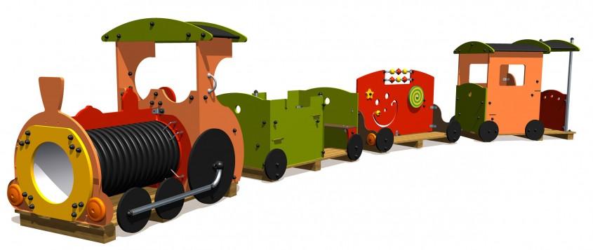 Trenulet pentru loc de joaca - NOU! Echipamente pentru locuri de joaca, de la Indfloor Group