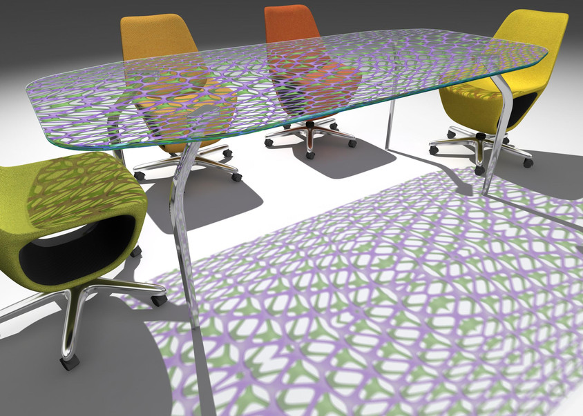 Mira XL Crystal Tabletop with Mesh Pattern by Mac Stopa for Casali - CASALI participă la
