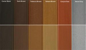 Gama de culori Decodeck_by Geplast - Paviment compozit pentru terase - paletar