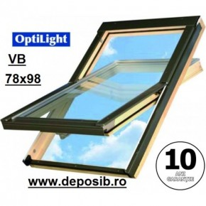Fereastra mansarda + rama Optilight VB 78x98 cu clapeta ventilatie - Ferestre de mansarda OptiLight