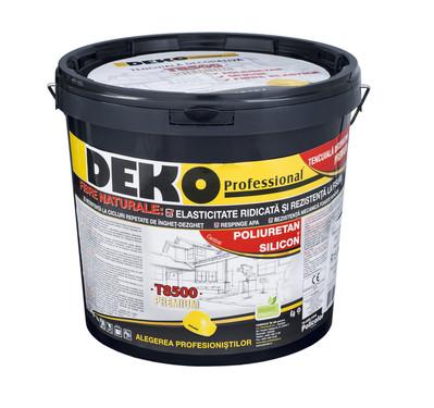 DEKO T8500 - Tencuiala decorativa premium cu fibre naturale, poliuretan si silicon  - Tencuieli decorative