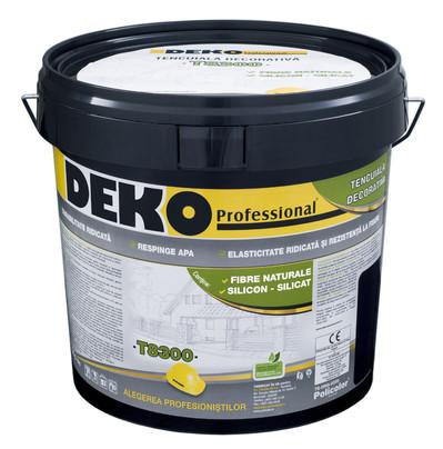 DEKO T8300 - Tencuiala decorativa cu fibre naturale si silicon-silicat  - Tencuieli decorative