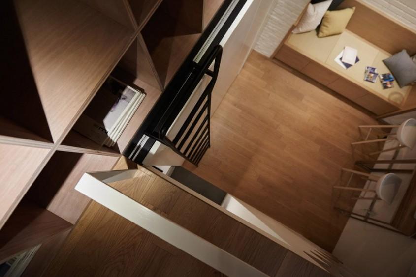Exemplu de ingeniozitate într-un apartament de doar 22mp - Exemplu de ingeniozitate într-un apartament de doar