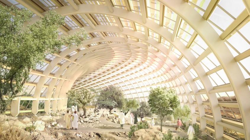 Habitatul de Nord - Primele imagini cu proiectul celei mai mari grădini botanice din lume