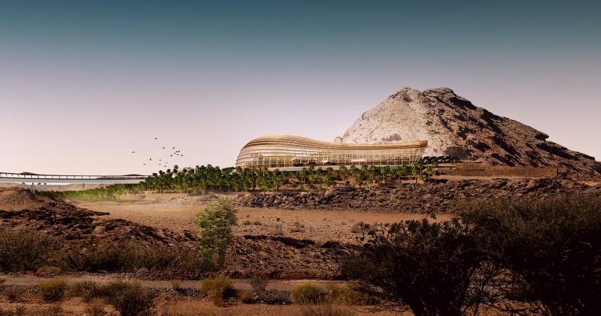 Exteriorul Habitatului de Nord - Primele imagini cu proiectul celei mai mari grădini botanice din lume