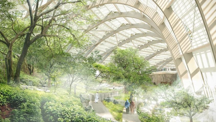 Habitatul de Sud - Primele imagini cu proiectul celei mai mari grădini botanice din lume