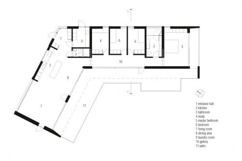 Vila Ladybird - Vila Ladybird casa de vacanta Vila Ladybird, o casa de vacanta eleganta deschisa spre natura inconjuratoare plan noscale 3 121712