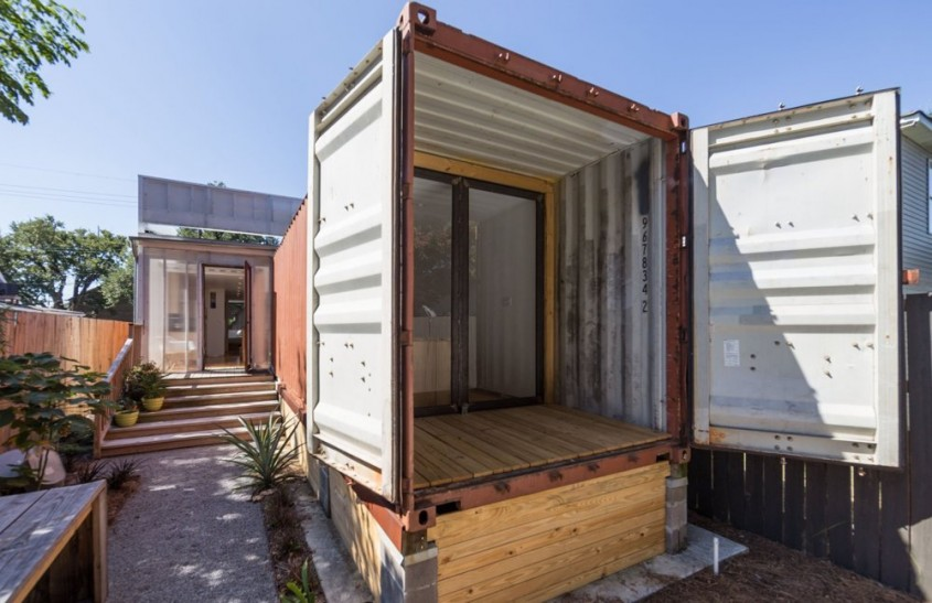 Casa amenajata in containere de marfa - Casa amenajata in containere de marfa