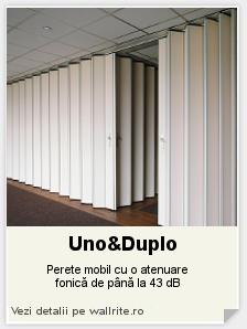 Perete mobil Uno&Duplo - Alegerea ta sunt peretii mobili