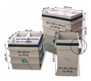Bazin de pompa din plastic tip Q - unghiular - Bazine si puturi de pompa