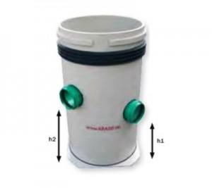 Put din plastic Poly 450 T din polipropilen - rotund - Bazine si puturi de pompa