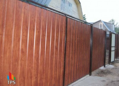 Gard si sageac metalic imitatie lemn - Gard si sageac metalic imitatie lemn