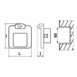 Spot led Moza inox 230V, senzor de miscare - Iluminat led