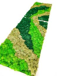 Tablou multicolor cu muschi si licheni stabilizati - Tablouri cu muschi si licheni stabilizati
