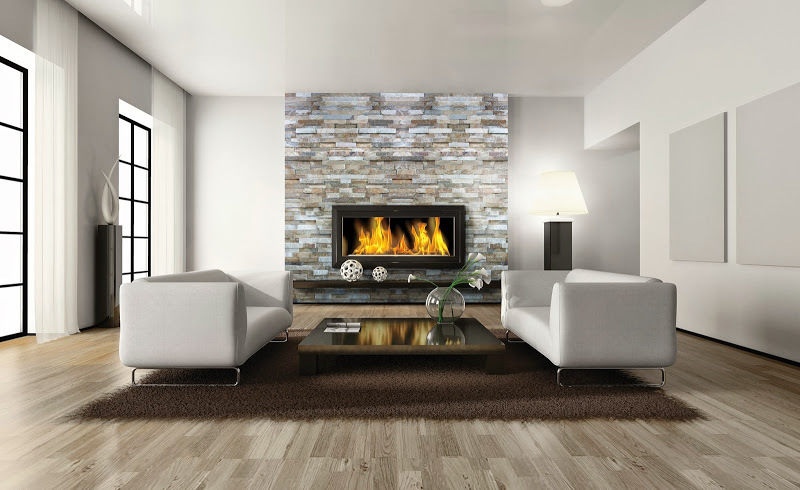 Sase idei pentru living pereti placati cu piatra naturala - Sase idei pentru living pereti placati