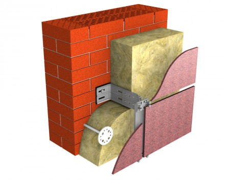 Placi din vata minerala bazaltica TECHNOVENT - Vata minerala pentru fatade