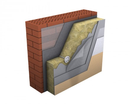 Placi din vata minerala bazaltica TECHNOFACADE - Vata minerala pentru fatade