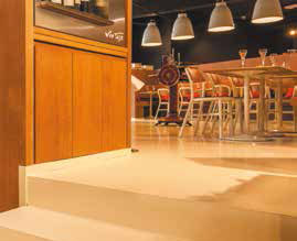 Coffe shop in Waterloo, Belgia. - Pardoseli decorative ComfortFloor