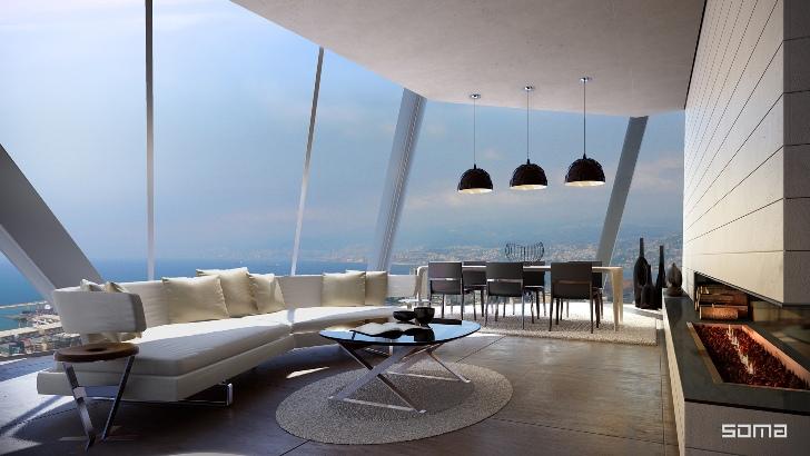 Proiectul BOBO - Imobil rezidential de lux construit in consola peste o cladire monument