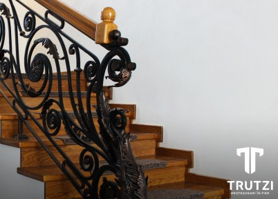 Detaliu ornamente balustrada - Balustrade din fier forjat