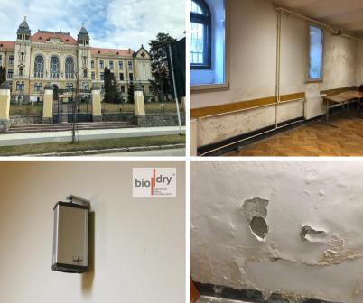Instalarea sistemului Biodry in cladirea unui liceu - Proiecte BioDry Romania
