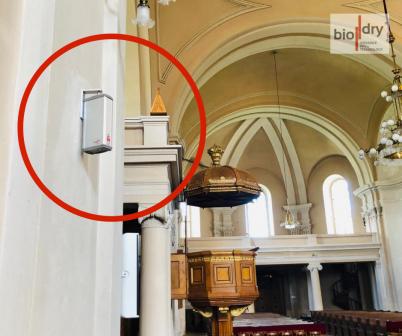 Instalarea sistemului Biodry intr-o biserica reformata - Proiecte BioDry Romania