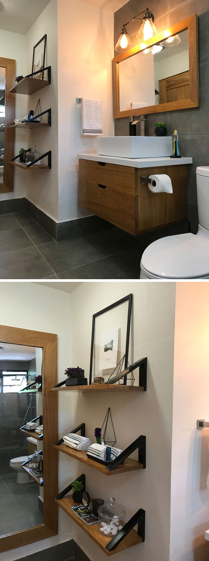 Inainte si dupa - o baie din anii '90 primeste o reamenajare moderna - Înainte și după - o baie din anii '90 primește o reamenajare modernă