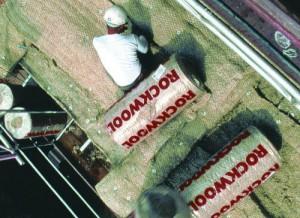 Saltele lamelare vata bazaltica cusute pe plasa rabitz WM 80_105 - Vata bazaltica pentru izolatii tehnice - ROCKWOOL